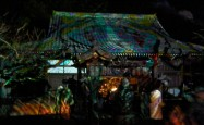 The light show at Horenji Temple swirls between hypnotic, kaleidoscopic and …